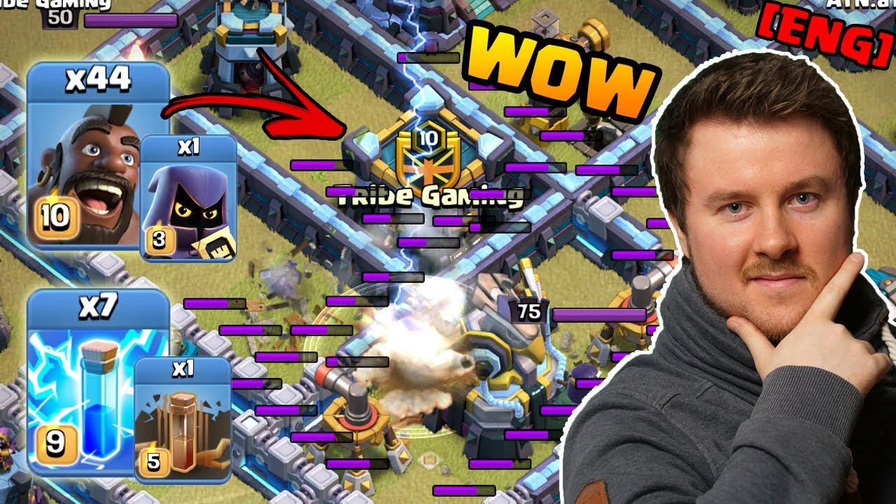 Hog Rider + Lightning Spell   MEGA Match - Tribe Gaming vs ATN.aTTAX   #clashofclans