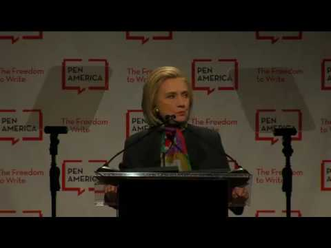 Hillary Rodham Clinton Delivers the 2018 Arthur Miller #FreedomToWrite Lecture