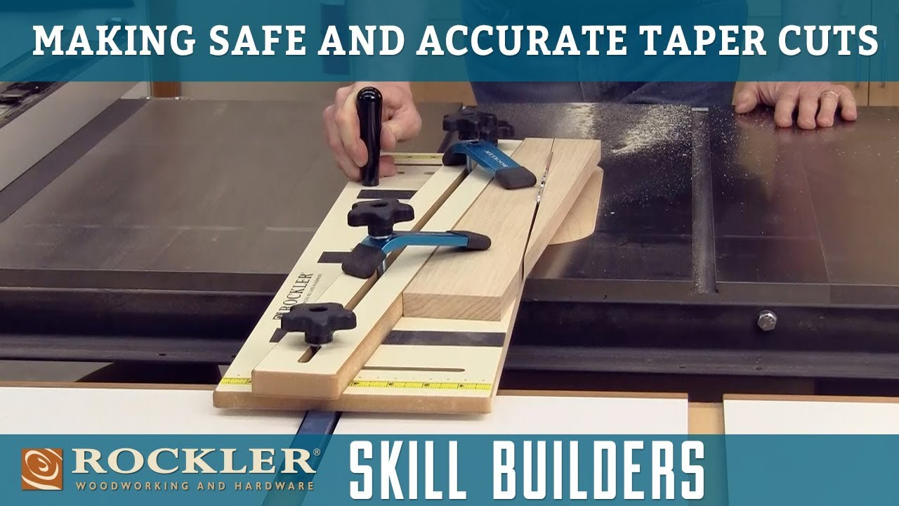 How to Make Safe Taper Cuts Using a Table Saw   Rockler Skill Builders
