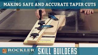Hoe Maak je Veilig Taper Bezuinigingen met Behulp van een Tabel Zag   Rockler Skill Builder