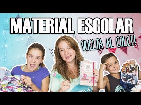 ¡Vuelta al COLE! 📚✏️ Material escolar RECICLADO 🌍 2017-18 // Juegos y Juguetes en Familia