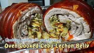 Homemade Oven-Cooked Cebu Lechon Belly (w/ Eng Subtitle) | ChubbyChiniCatt