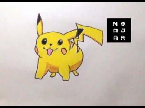 Menggambar Dan Mewarnai Pikachu Pokemon Untuk Anak 1 Youtube