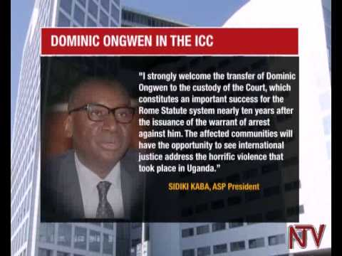 Dominic Ongwen arrives at the ICC