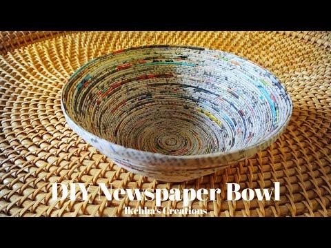 How to make a Newspaper Bowl    DIY Paper Bowl