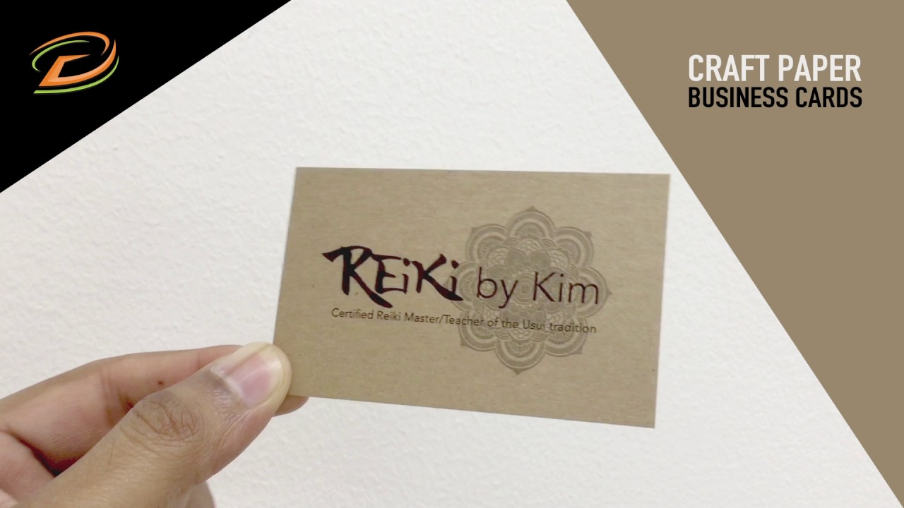 Craft Paper Business Cards Printing Dubai - YouTube