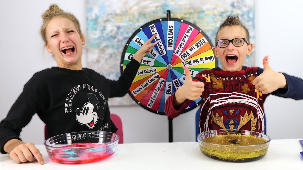 Mystery Wheel of Dump It Slime Challenge! - YouTube