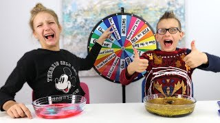Mystery wheel slime challenges!