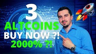 Top 3 Altcoins Ready To EXPLODE in September 2021 BEST Crypto NOW 2000% ?! CRYPTO NEWS TODAY!