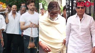 Bollywood celebrities attend Hrithik Roshan's grandfather J Om Prakash's funeral
