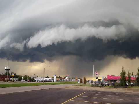 July 3rd, 2016 storm in Kindersley, SK.