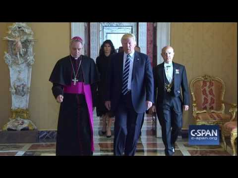 President Trump meets Pope Francis (C-SPAN)
