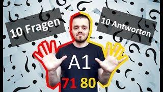 Разговорный немецкий язык, урок 8 (71-80). 10 вопросов - 10 ответов