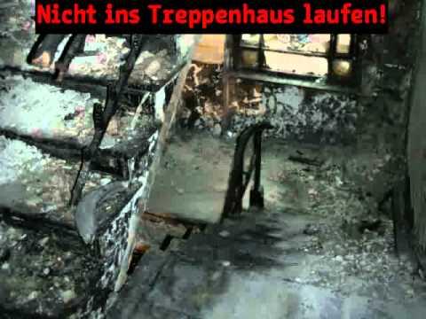 Richtiges Verhalten im Brandfall: Brand im Treppenhaus