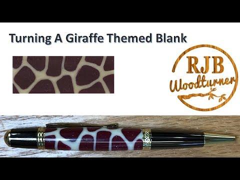 Turning A Giraffe Themed Blank