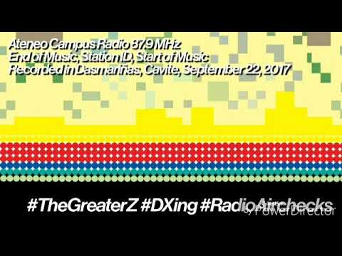 The Greater Z's DXing + Airchecks: Ateneo/Arriba Campus Radio 87.9 MHz