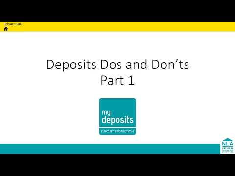 Deposit Do's and Don'ts part 1: Deposit Registration