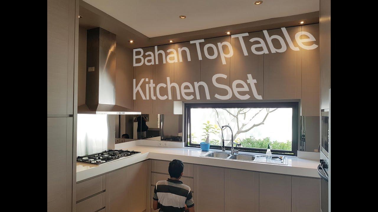 Bahan bahan top table kitchen set 3 bahan terbaik