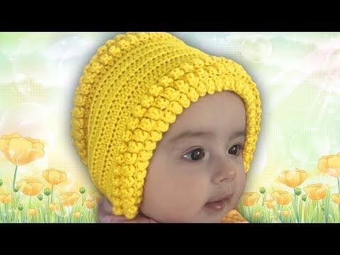 Вяжем крючком для детей до года шапочки