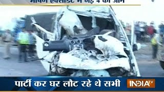 4 Students Die in a Major Car Accident at Ambala-Delhi National Highway | India Tv