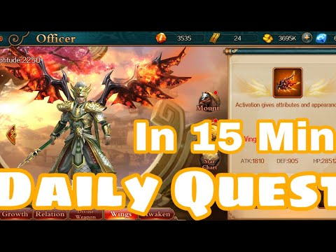 DYNASTY LEGENDS - Daily Quest In 15 Min