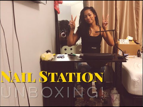 nail desk unboxing | new nail station