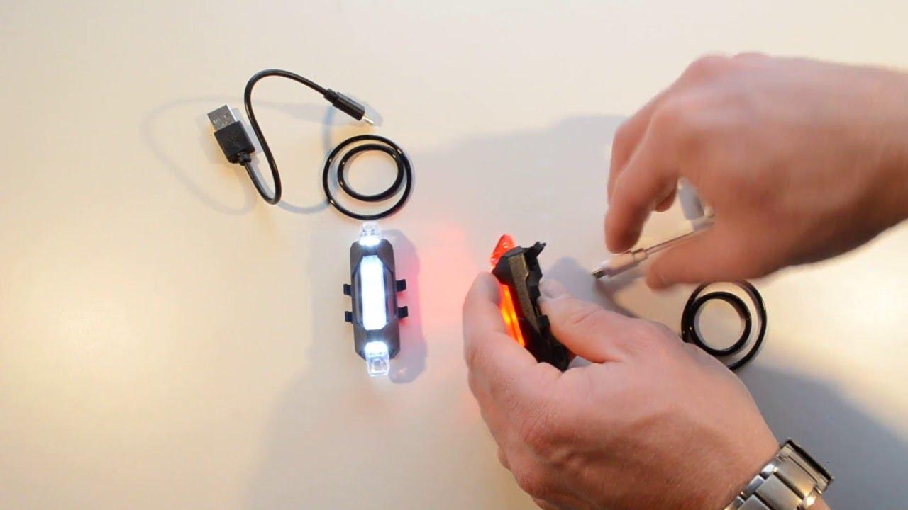 Lampki Rowerowe 5x Led Na Akumulator 4 Tryby świecenia