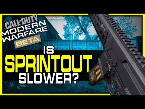 Are Sprintout Times Slower in Modern Warfare? (Beta Results vs BO4)
