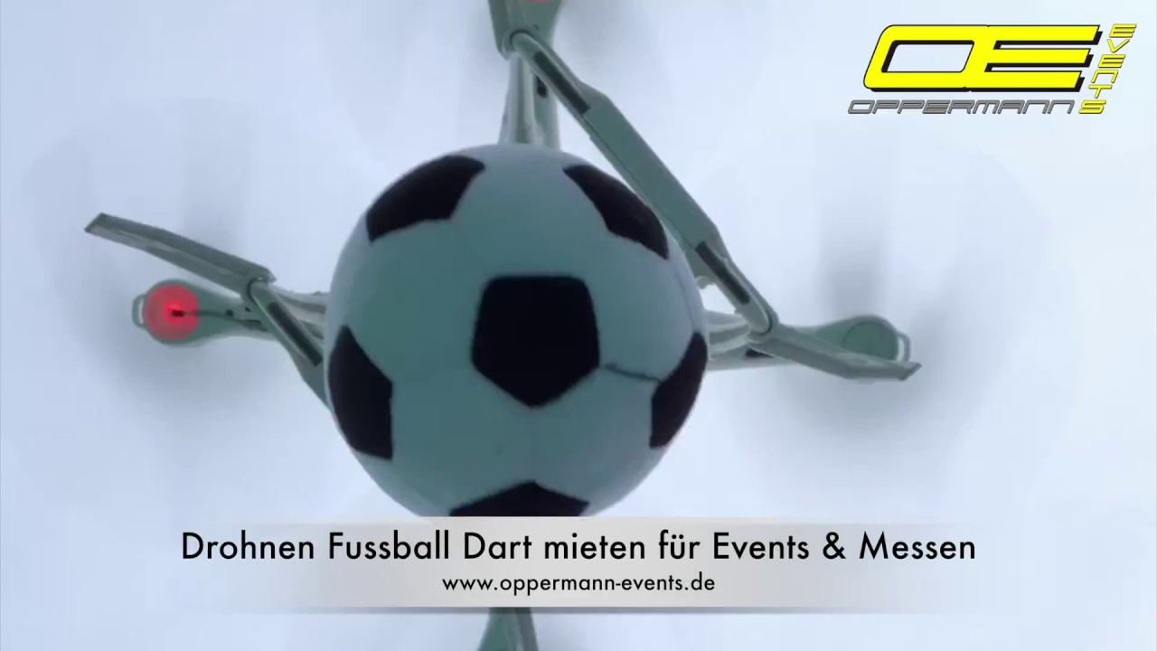 Drohnen Fussball Dart Mieten Fur Events Und Messen Drohne Abwurf Mechanismus Oppermann Events
