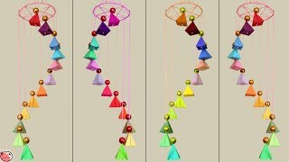 WOW !!! Beautiful Paper Wind Chime Making at Home || How to Make Wall Hanging || Handmade Things