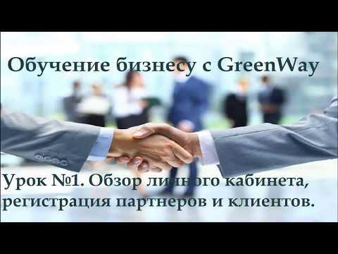 Урок №1.  Обзор личного кабинета, регистрация партнеров и клиентов в Greenway.
