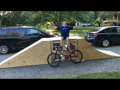 We Built a Wooden Bike Jump!!! (KTS_Vlog1)