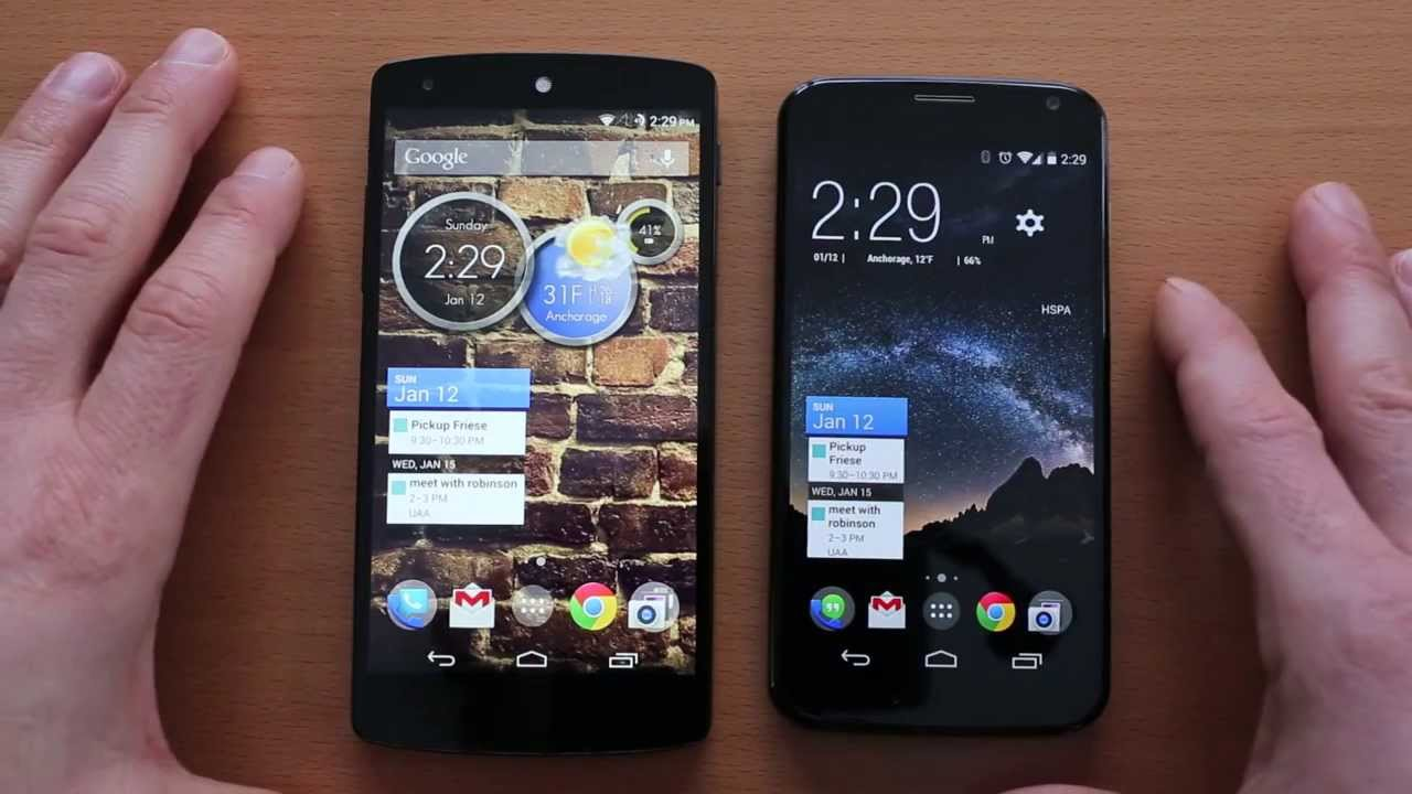 Nexus 5 vs Moto X Honest Review and Comparison