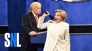 Repeat youtube video Donald Trump vs. Hillary Clinton Third Debate Cold Open - SNL