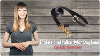 Professional Police Nylon Dog Lead - Quick Review