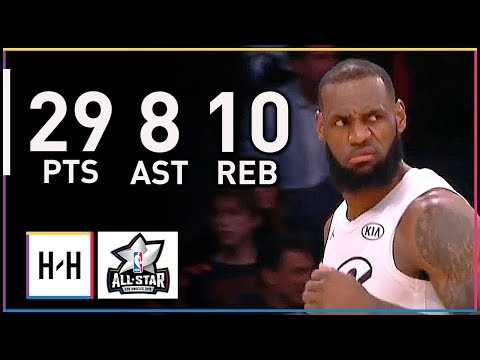 LeBron James EPIC MVP Full Highlights at 2018 All Star Game -  29 Pts, 10 Reb, 8 Ast, CLUTCH!