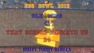 2012 Egg Bowl Between Ole Miss and Mississippi State