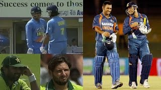 India 118 off 13 overs | Sehwag and Dhoni blasting Pakistan bowlers in ODI as if playing a T20 Match