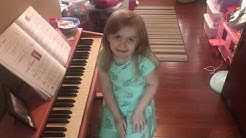 Audrey Playing the Piano!