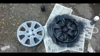 Покраска колпаков на Авто (по быстрому)(подготовка авто к продаже -покраска колпаков на Nissan покраска дисков на авто: https://www.youtube.com/watch?feature=player_embedded&v=..., 2014-10-15T00:14:13.000Z)