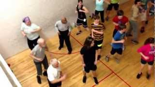 Dream Team tackles Zumba at the Riverfront YMCA during indoor training. Thumbnail