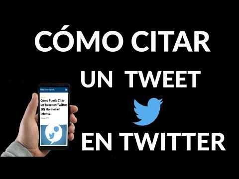 Cómo Citar un Tweet en Twitter