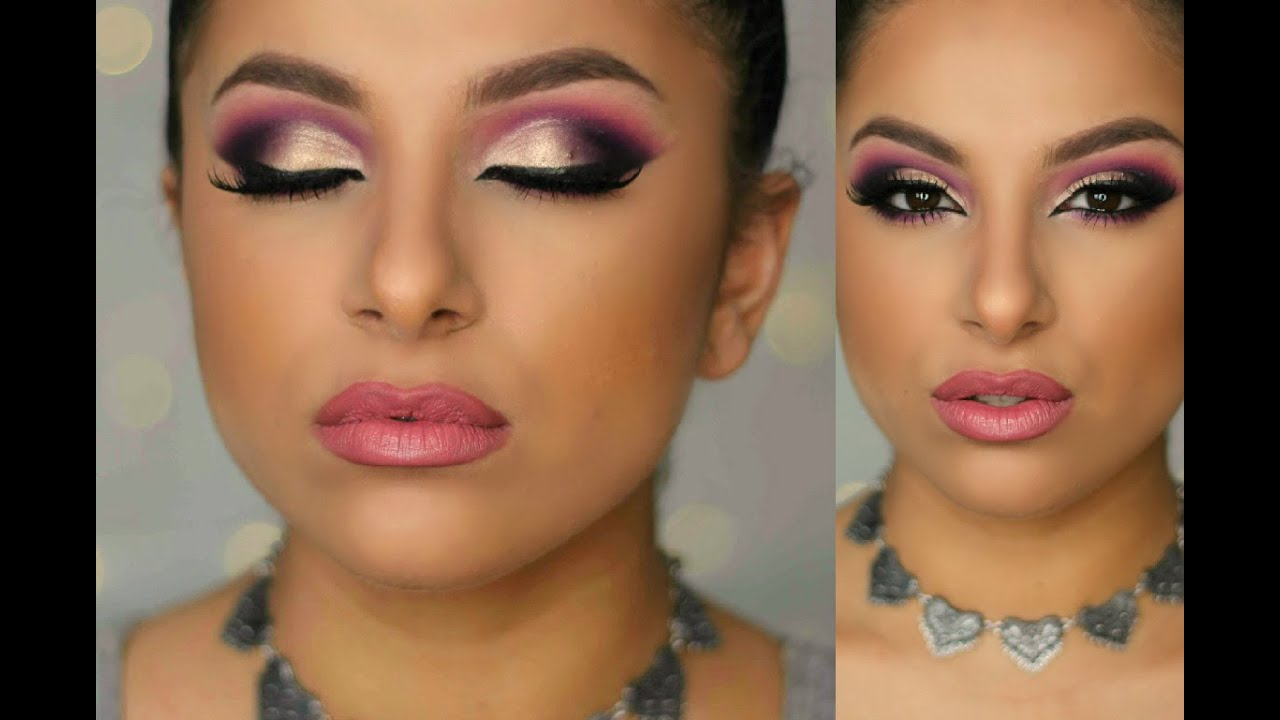 Purple Gold Glam Makeup Tutorial Makeup By Leyla Youtube