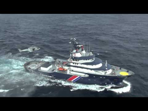 French Navy and Coast Guard Ships Approach Freighter Modern Express