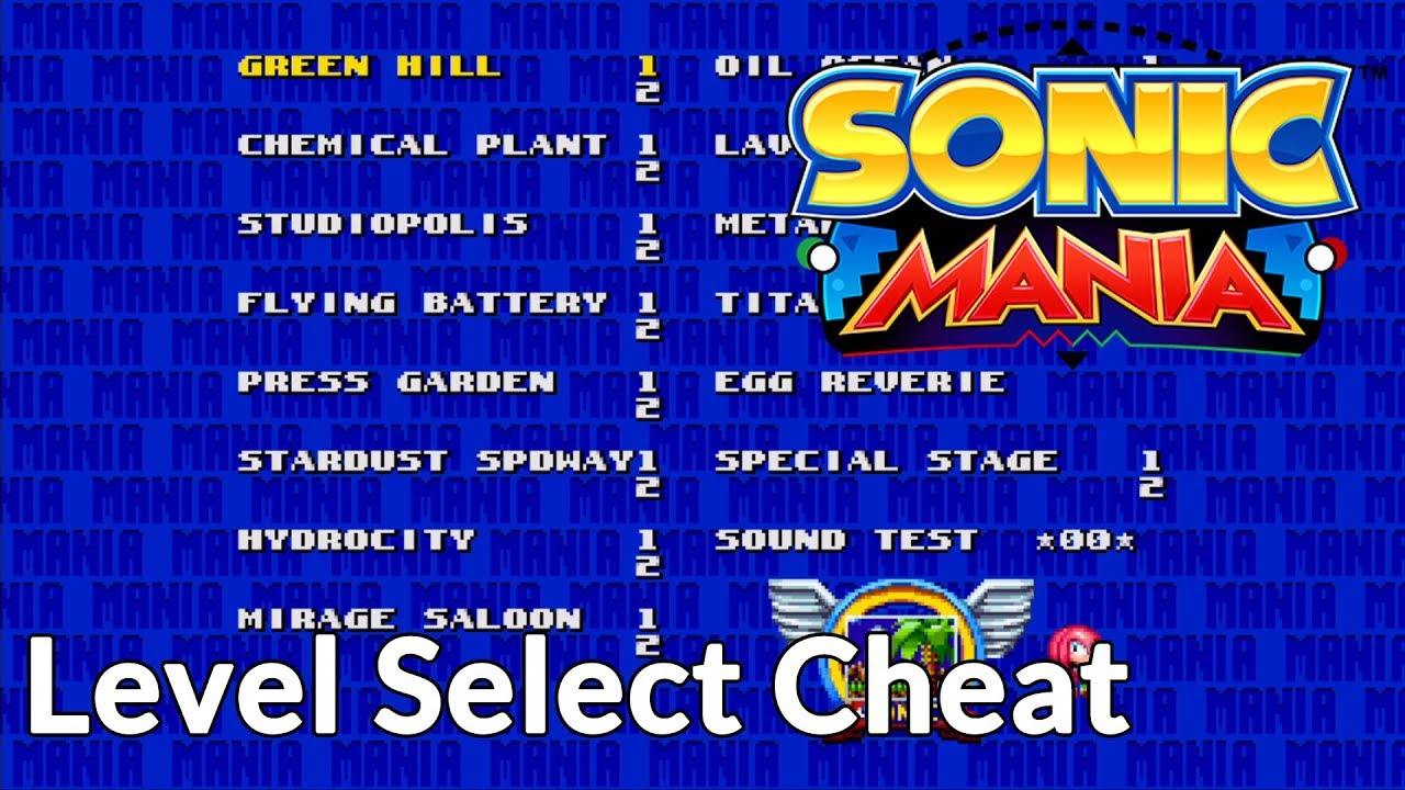 Sonic Mania Cheats: how to reach level select and sound test!