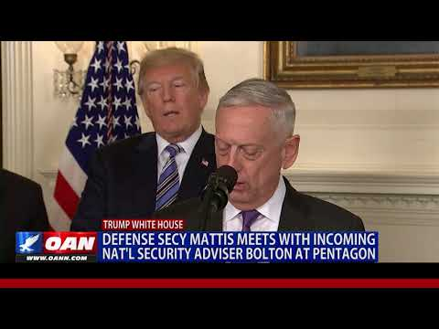 Defense Secy Mattis Meets with Incoming Nat'l Security Adviser Bolton at Pentagon