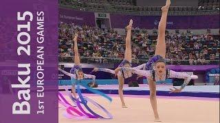 Russia win the Group All Round Rhythmic Gymnastics Gold | Rhythmic Gymnastics | Baku 2015