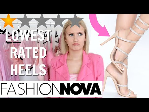 I BOUGHT THE LOWEST RATED HIGH HEELS ON FASHION NOVA