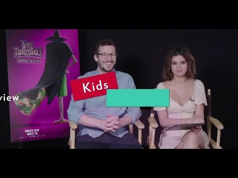 Selena Gomez, Andy Samberg + Cast Answer Cute Questions From Kids  - Hotel Transylvania 3