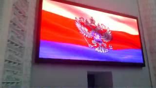 Светодиодные телевизоры в г. Балашиха(По центру - монолитный экран P8, по бокам - монолитные экраны P4., 2015-01-19T05:30:43.000Z)